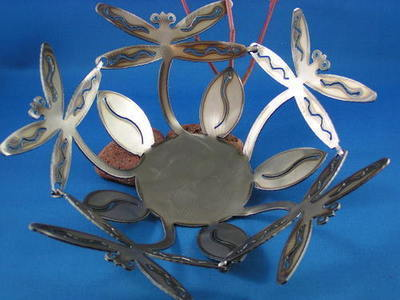 Dragonfly Metal Bowl