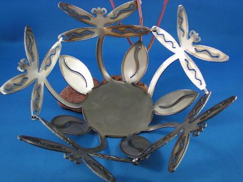 Dragonfly Metal Bowl