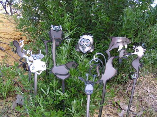 Garden stakes Metal art