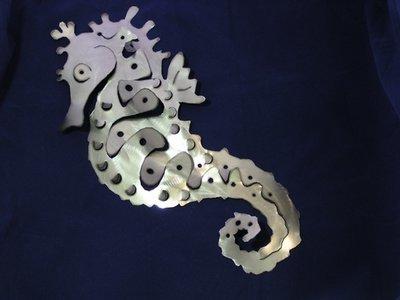 Seahorse Metal art