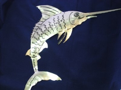 Sword fish Metal art