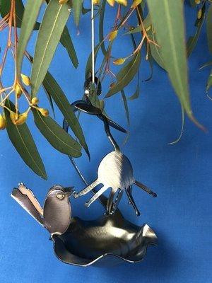 2 x Baby Wren + Birdfeeder