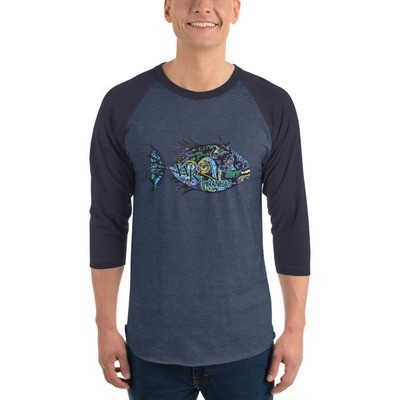 Raglan sleeve shirt-Piranha