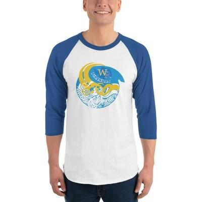 Raglan sleeve shirt-Wave