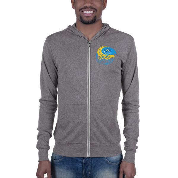 Lightweight zip hoodie-Wave