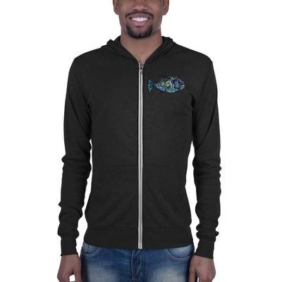 Lightweight zip hoodie-Piranha