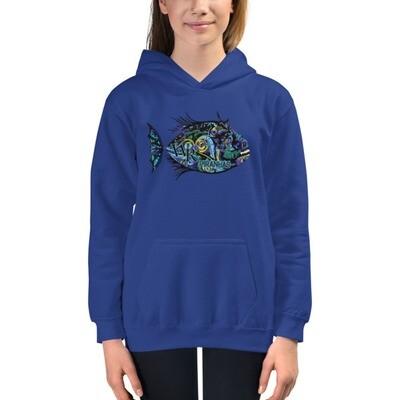 Kids Hoodie-Piranha