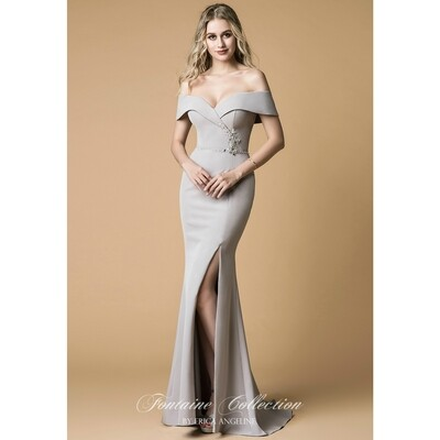 OFF THE SHOULDER MERMAID DRESS WITH SLIT
