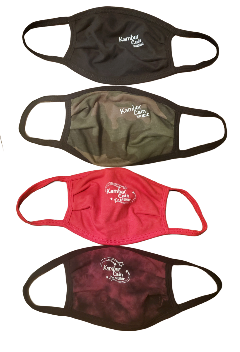 Kamber Cain Music Logo Face Masks