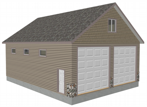 G406 34' X 44' X 14' detached garage with bonus room
