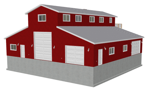 G468 60 x 60 -14' Monitor Barn Style garage with apartment PDF Files