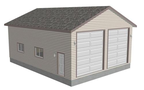 G371 30 X 40 X 14 Workshop RV Garage plans PDF and DWG