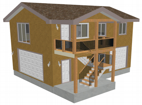 G418 26 x 36 x 9 detached garage with 2nd story