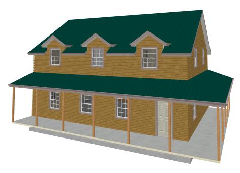 G454 Plans, 40'x30' x 10' garage with bonus apartment