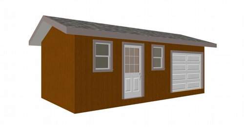 g249 12' x 24' Shed Plans