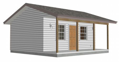 Bunkhouse with a porch PDF