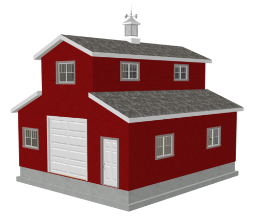 #g503 26 x 30 x 10 Monitor Barn Plans with DWG and PDF