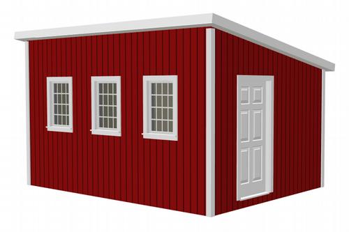 G481 12 x 16 x 8 Garden Shed / Chicken Coop / Playhouse / Bunkhouse