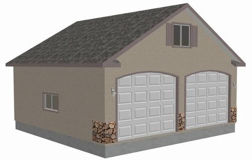 G433 30' x 30' detached garage with bonus truss