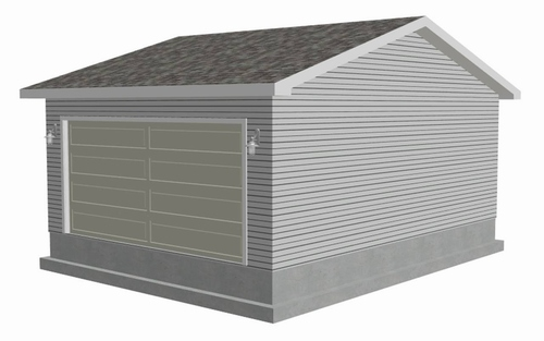 #g459 - 26 x 20 garage plan with PDF and DWG files