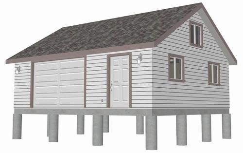 #G448 24 x 20 x 8 garage plan PDF and DWG files