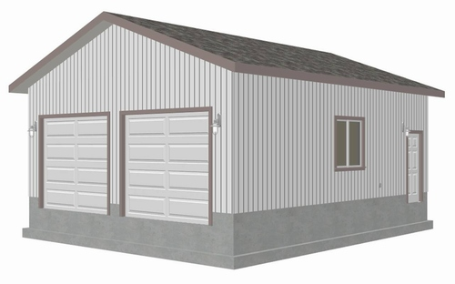 g446 24'4x28'4 Garage Plan