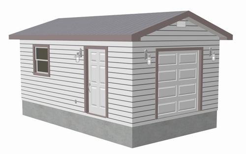 g441 12 x 20 x 8 garage Plan