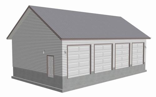 #g442 50x30x12 garage Plans