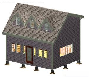 Easy to follow 8 x 10 Victorian with 3 Dormers Plan