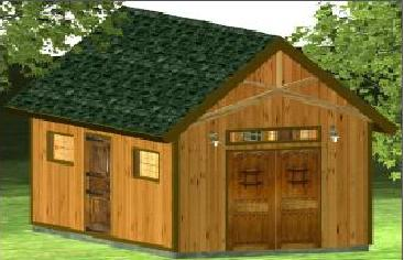 Gentleman Barn with double side doors swing garage
