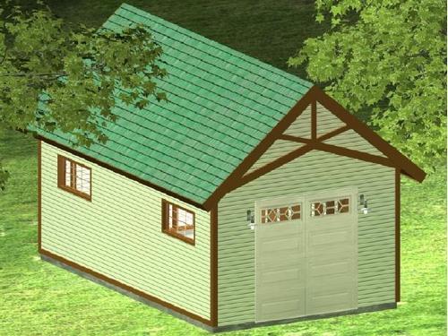 12x20x8 gentleman garage with transom
