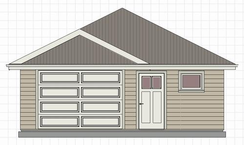 Affordable 24 x 24 Garage Plan