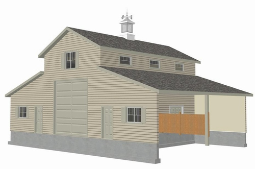 Plan #g339A 52 x 38 - Horse Barn