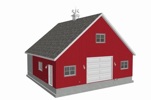 36x36-10' Sides Garage Plan