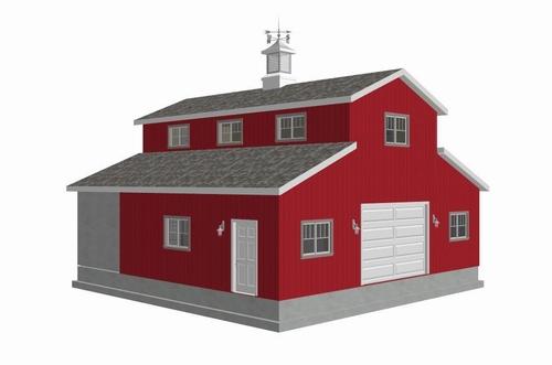 #g313 36 x 36 - 10' Sides Garage Plan
