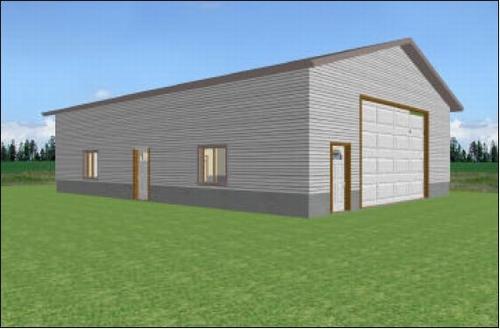 WorkShop 36' x 50' Garage