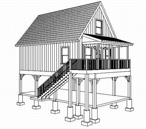 #h216 Raised Aspen Cabin Design
