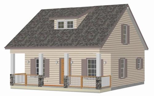 h217 Cottage Cabin Design (custom home)