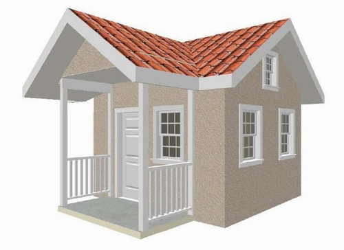 Complete 10' x 12' Playhouse Plan