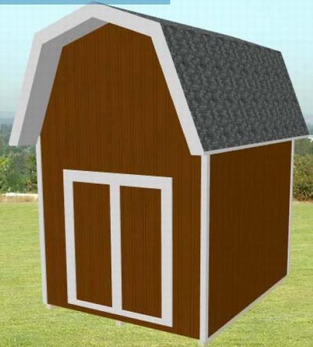 10' x 12' Pole Barn Style Shed