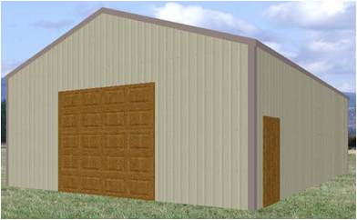 The 30' X 40' POLE BARN PLAN