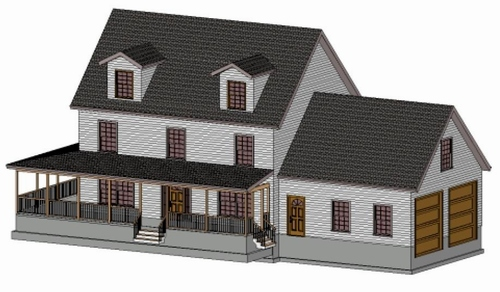 The Saltbox with Porch & Dormer Addition