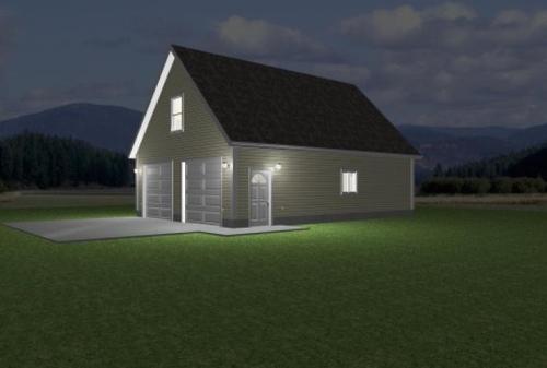Download 26' x 36' Garage With Loft