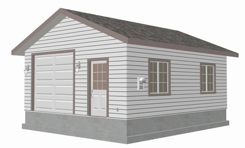 Plan g446 Custom 20 x 24 - 9' Garage Blueprint