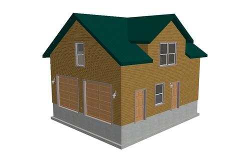Plan #g213 Custom Dormer Garage Plan