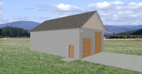 Plan #211 Custom 32 x 50 Garage Plan