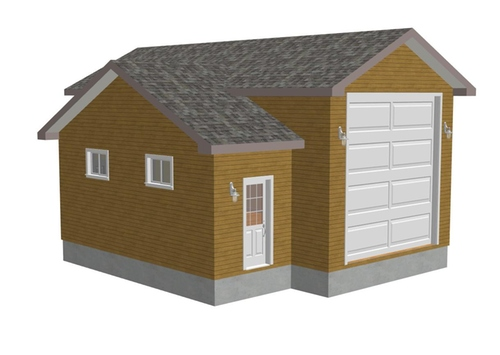 g248 16 x 35 x 8 x 22 -14 RV Garage Plans PDF and DWG