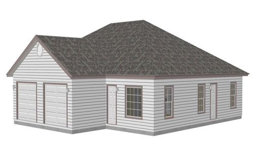 #h220 2 Bedroom Duplex Plans Blueprints Construction Documents in PDF and DWG