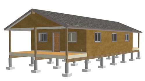 25 x 40 One Room Cabin Plans