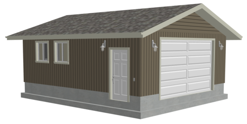 G495 22 x 26 x 9 Garage Plans in DWG and PDF